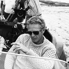 Summer style inspiration from the King of Cool... #SteveMcQueen #Summer #Style #Menswear #Nautical #Fashion #Gentleman #Icon #Classic #Boat #Riviera #Luxury #Lifestyle