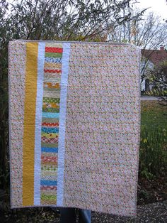 Love this quilt back.