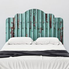 Distressed Turquoise Adhesive Headboard Wall Decal