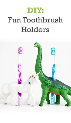 Repurpose unused items (like toys!) into delightful DIY toothbrush holders that make brushing your teeth fun! Your kids are going to love to put their brushes in this DIY toothbrush holder and these simple instructions make it easy for them to help, too!