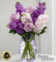 The FTD® Sweet Devotion™ Bouquet by Better Homes and Gardens® -CUT GLASS VASE INCLUDED