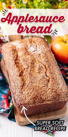 Quick Bread Recipes, Banana Bread Recipes, Apple Recipes, Baking Recipes, Lemon Recipes, Recipe Using Applesauce, Applesauce Bread, Baking With Applesauce, Applesauce Recipes
