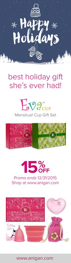 #Anigan #EvaCup #menstrualcup is a life-changing gift for your special one. It is the greenest #menstrual solution ever. Visit: www.anigan.com #menstrualcycle