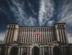 I found a map and drew a straight line. Michigan Central Station, Detroit, Michigan. www.ERINWATSONPHOTOGRAPHY.com