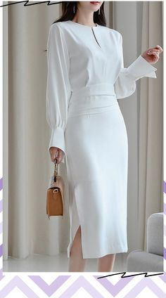 Shop now to get off with free express shipping Available at this link instatrends. High Fashion Dresses, Party Dresses For Women, Casual Dresses For Women, Hijab Fashion, Cute Dresses, Dresses For Work, Fashion Outfits, Elegant Outfit, Classy Dress