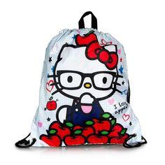 56b6d3b0aa4e Hello Kitty Nerd I Love Apples Cinch Backpack Hello Kitty Bag