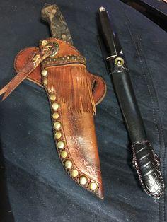 Western Loop Bowie Knife Sheaths Knife Leather Knife