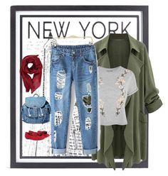 """Neeeew York"" by ramona-dm on Polyvore featuring Stephenson, Topshop, Gucci, Dance & Marvel and Aquazzura"