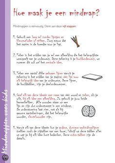 Mindmappen…voor kids, Tony Buzan Een boek dat ook voor volwassen zeer leerzaam is om de basis te leren.