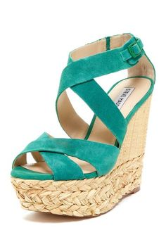 {Vayle Platform Wedge Sandal} Madden Girl--I love these!  Why do they have to be so high?