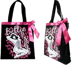 Bettie Page Tote Bag by Sourpuss