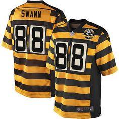 Lynn Swann Men s Elite Gold Black 80th Anniversary Jersey  Nike NFL  Pittsburgh Steelers Alternate 7cdc3f5a3