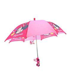 Minnie Mouse Umbrella #zulily #zulilyfinds