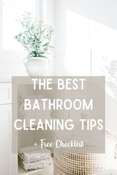 Keeping your bathroom clean is important that's why you'll love these bathroom cleaning tips. These cleaning tips for bathroom will be just what you need to keep your bathroom clean and clutter-free. Also, download the free bathroom cleaning checklist printable to use during your weekly bathroom cleaning Bathroom Cleaning Checklist, Cleaning Checklist Printable, Cleaning Routines, Cleaning Tips, Declutter Home, Decluttering, Bathroom Design Layout, Fall Cleaning, Amazing Bathrooms