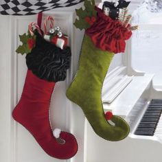 Christmas Stockings for Deran and me to go with our Nightmare Before Christmas theme.