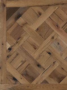 Who says France and America don't get along well? American Reclaimed Oak and Parquet De Versailles beg to differ. Shown here in a milled face, we can