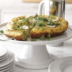 Frittata with Mixed Herbs, Leeks and Parmigiano-Reggiano Cheese | Williams-Sonoma