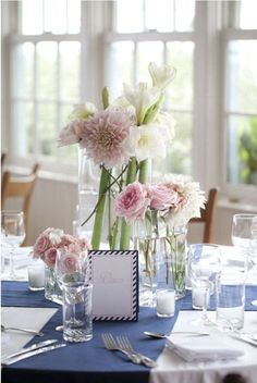 Nantucket Wedding at Sankaty Head Golf Club from Soiree Floral White Rose Centerpieces, Simple Centerpieces, Centerpiece Decorations, Wedding Centerpieces, Wedding Decorations, Centrepiece Ideas, Cheap Wedding Reception, Summer Wedding, Reception Table