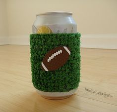 Football Coozie - it is a DIY