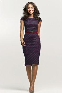 Love love love this look! Cap sleeves, perfect hemline, flawless fit!