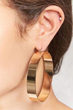 FOREVER 21 Thick Hoop Earrings