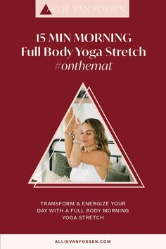 Begin your day with a full body morning yoga stretch to awaken and enliven your body, mind & soul in just 15 freakin' minutes! This yoga sequence cares for your whole body by moving through postures that energize and awaken each chakra and finishing with surya bhedana pranayam to create an intention for your day. Unroll your mat this morning to create an intention for a fulfilling and energized day! Allie, xx #morningyoga #15minyoga #fullbodyyoga #allievanfossen Yoga Inversions, Vinyasa Yoga, Beginner Yoga Workout, Yoga Workouts, Morning Yoga Stretches, Free Yoga Classes, Yoga Routine For Beginners, Gentle Yoga, Advanced Yoga