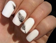 cute feather nails!
