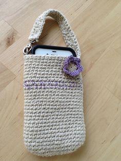 Crocheted hemp phone case. Delia Anne | Flickr - Photo Sharing!