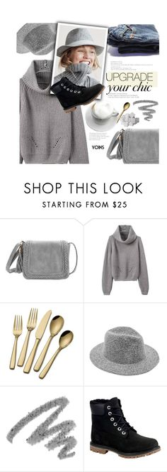 """cozy"" by meyli-meyli ❤ liked on Polyvore featuring Yves Saint Laurent, J.Crew and Timberland"