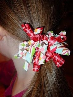 how to make curly ribbon hair ties
