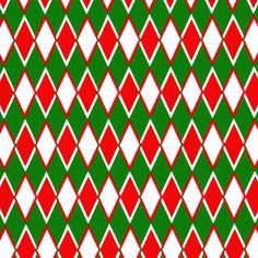 Fabric Finder's Inc. Print #1858 Red and Green Diamonds #diamonds #diamondfabric #sewing #fabric #christmasfabric #redandgreen #christmas #christmasinjuly