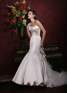 ~Impressions Bridal~  Satin Mermaid Gown~  Lasting Impressions Sioux Falls, SD~