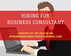 Best #Opportunity for #Business #Consultant in #Dubai.