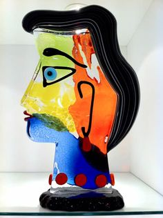 Glass Picasso Sculptures - Murano Picasso Sculptures in Solid Glass