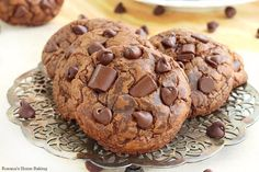 Soft and chewy triple chocolate fudge cookies recipe