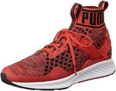 9ff65bbdc787 PUMA Ignite Evoknit Trainers Red Running Football SNEAKERS 189697 UK 10.5