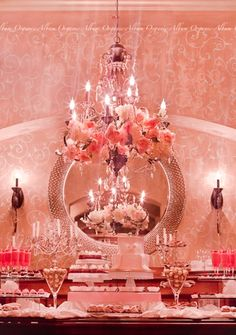 LOVE the way she decorated the chandelier!     This blog is a lady in Houston, TX who  is  a party planner with LOTS of great party ideas!