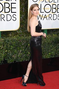 Amy Adams wearing PEARL   the 74th Annual Golden Globe Awards in Los Angeles