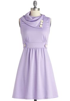 Coach Tour Dress in Lavender. Sometimes a dress is so magical, it makes you long for somewhere special and new to wear it. #purple #modcloth