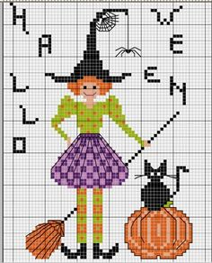 halloween - point de croix - cross stitch - Blog : http://broderiemimie44.canalblog.com/