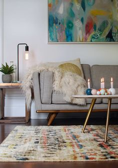 So beautiful. Winter living room makeover with Freedom via we-are-scout.com