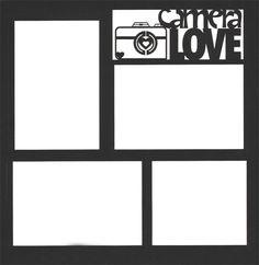 Camera Love 12 x 12 Overlay Laser Die Cut