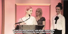 Hayley Williams accepting the 2014 Billboard Women in Music honor for Trailblazer of the Year.
