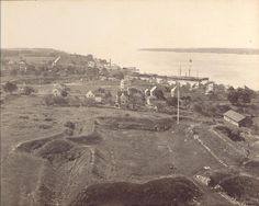 The historic Fort Griswold State Park in Groton, CT, circa 1904.