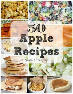 50 Apple Recipes that are perfect for fall apple season! Lots of options from side dishes, to desserts and more! Fruit Recipes, Apple Recipes, Turkey Recipes, Fall Recipes, Chicken Recipes, Dessert Recipes, Breakfast Recipes, Cabbage Recipes, Tofu Recipes