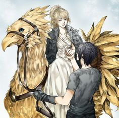 FINAL FANTASY XV: LUNA, NOCTIS, AND A CHOCOBO