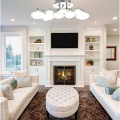 Built In Around Fireplace, Fireplace Built Ins, Home Fireplace, Fireplace Remodel, Living Room With Fireplace, Fireplace Design, Home Living Room, Living Room Designs, Living Room Furniture
