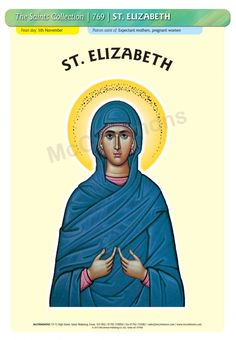 St. Elizabeth, Mother of John the Baptist - 5 November #FeastDay (RC) 5 September (Orthodox and Anglican) Poster A3 (STP769)
