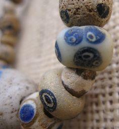 A Phoenician glass eye bead necklace