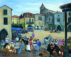 Town Square, Monpazier - margaret loxton